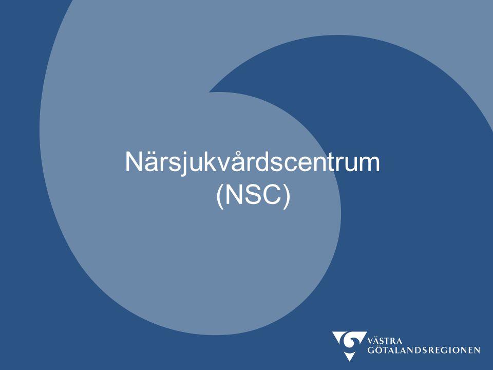 Närsjukvårdscentrum (NSC)