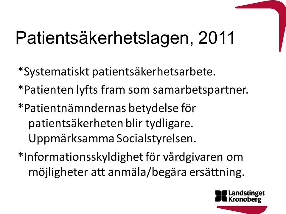Patientsäkerhetslagen, 2011