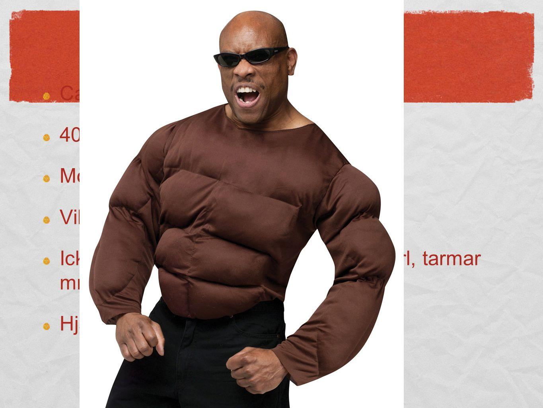 Musklerna Ca 600 muskler 40-45% av den totala kroppsvikten
