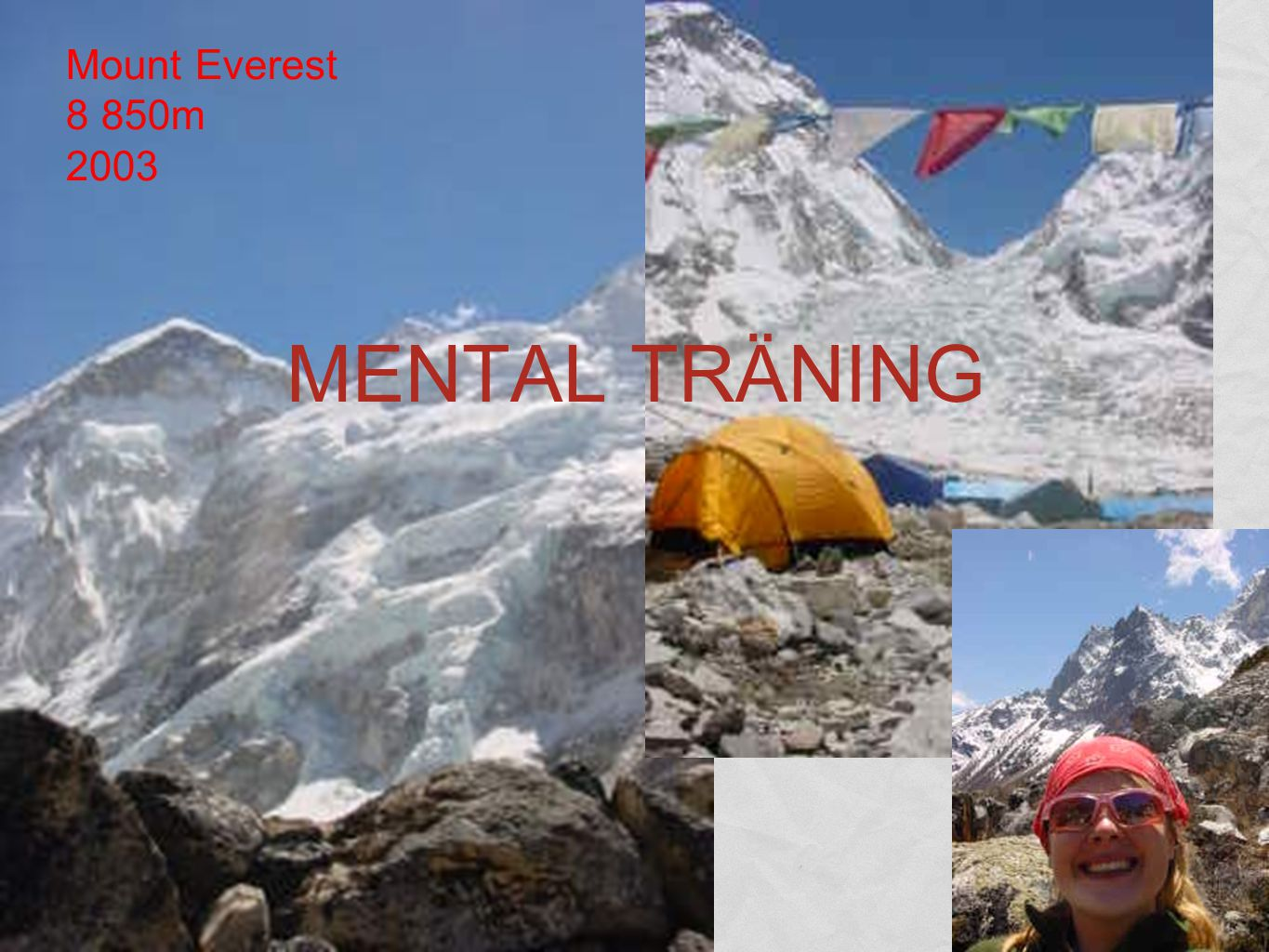 Mount Everest 8 850m 2003 MENTAL TRÄNING