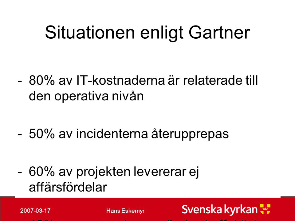 Situationen enligt Gartner