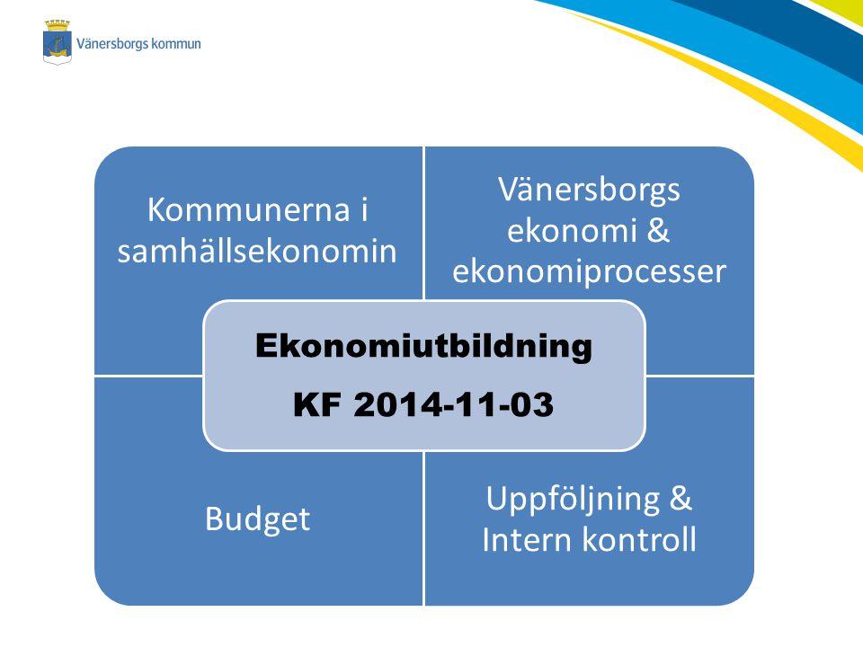 Kommunerna i samhällsekonomin Vänersborgs ekonomi & ekonomiprocesser