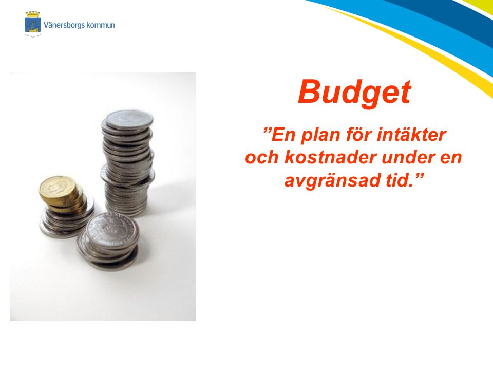 En plan för intäkter och kostnader under en avgränsad tid.
