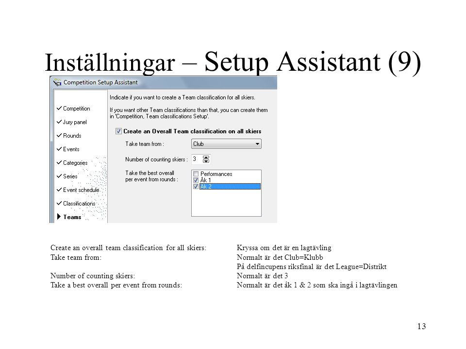 Inställningar – Setup Assistant (9)