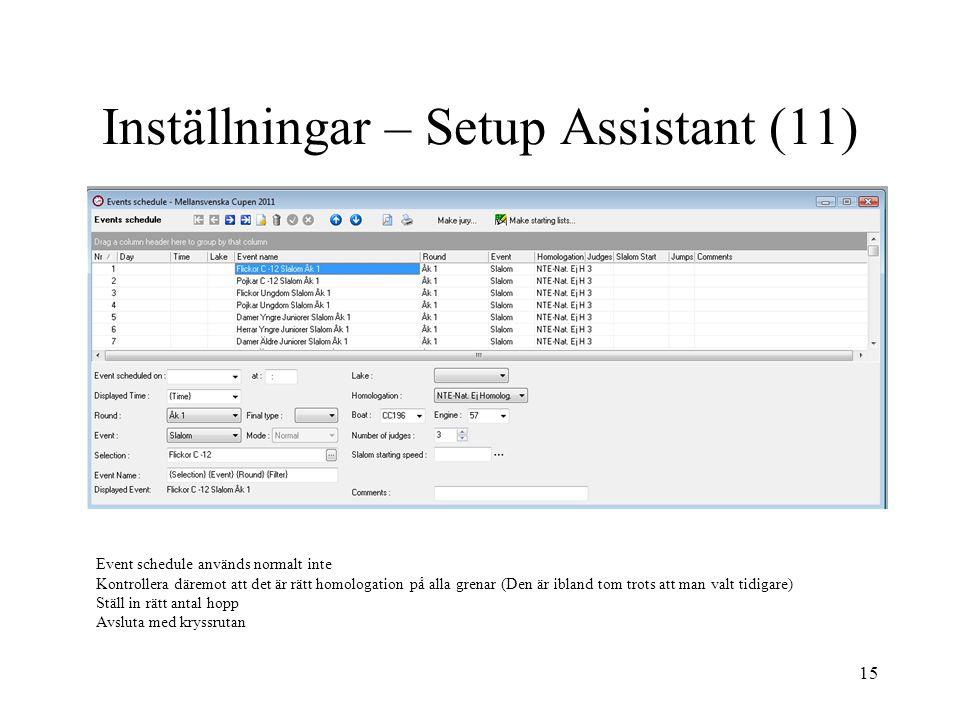 Inställningar – Setup Assistant (11)
