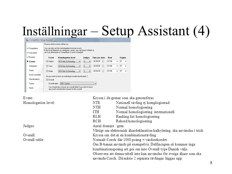 Inställningar – Setup Assistant (4)