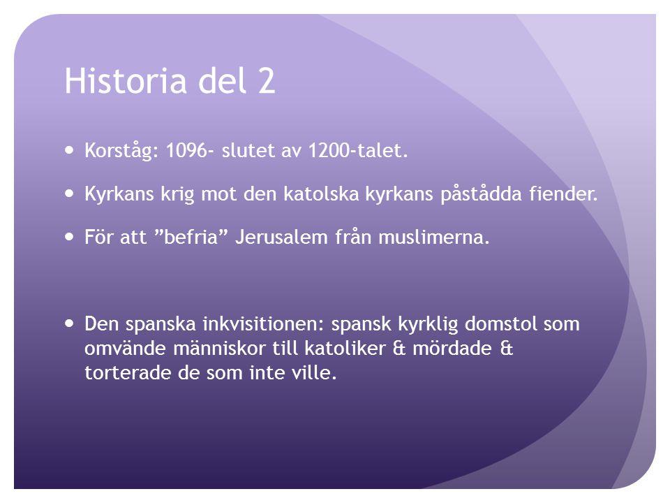 Historia del 2 Korståg: 1096- slutet av 1200-talet.