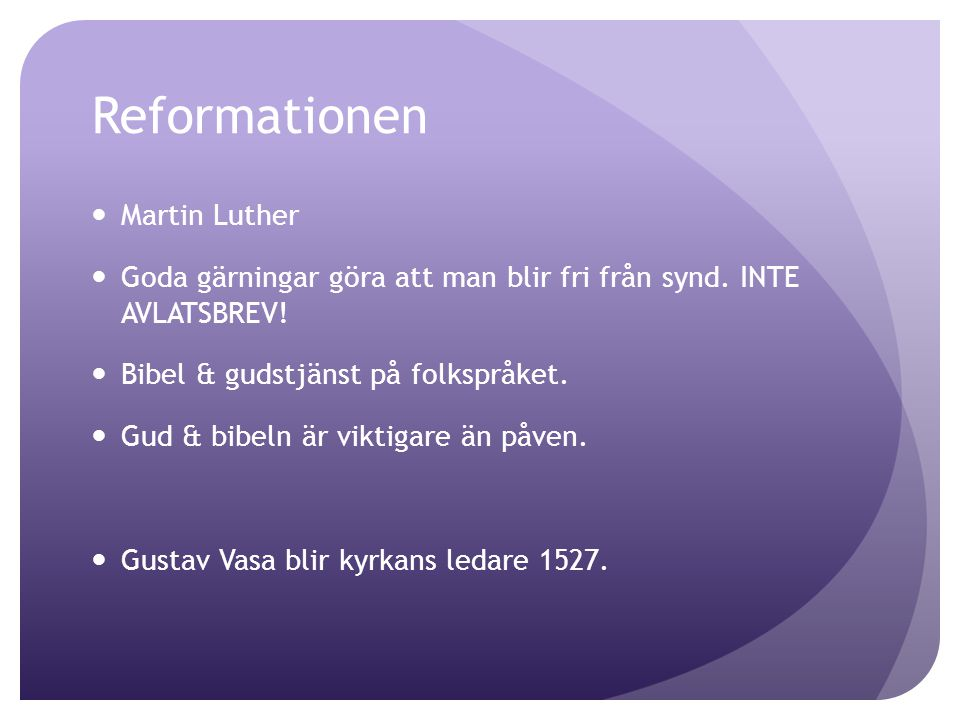 Reformationen Martin Luther