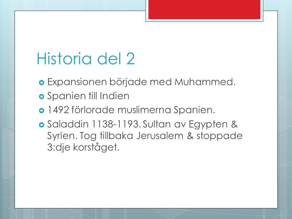 Historia del 2 Expansionen började med Muhammed. Spanien till Indien