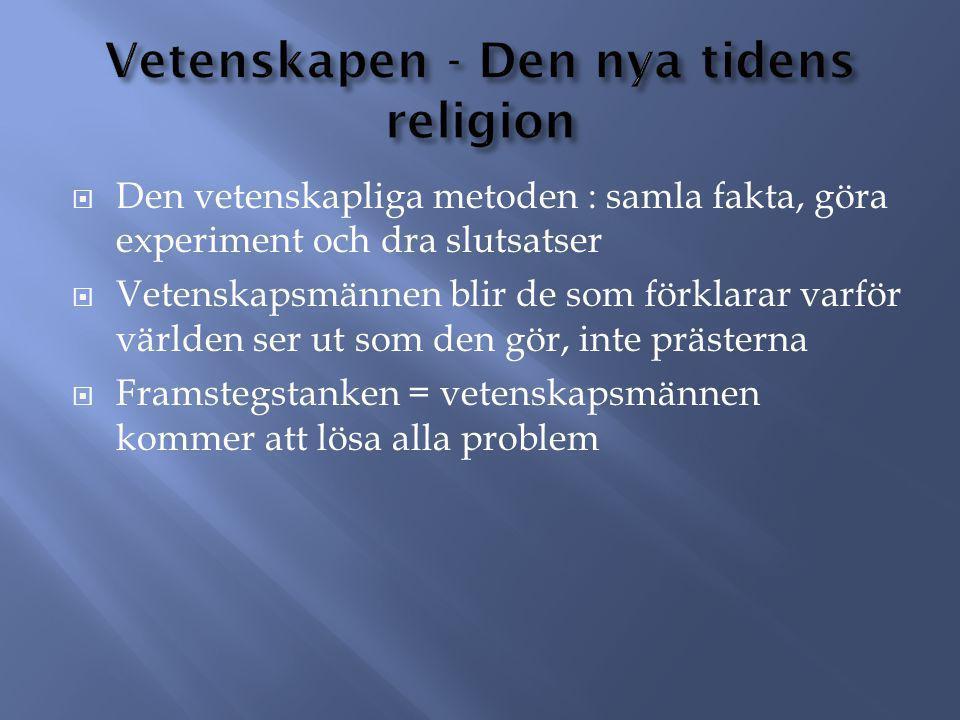 Vetenskapen - Den nya tidens religion