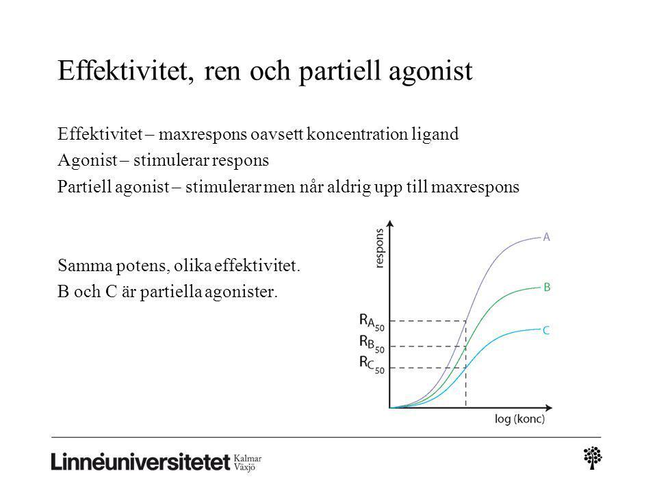 Effektivitet, ren och partiell agonist
