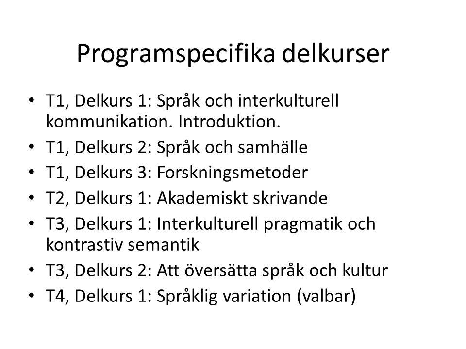 Programspecifika delkurser
