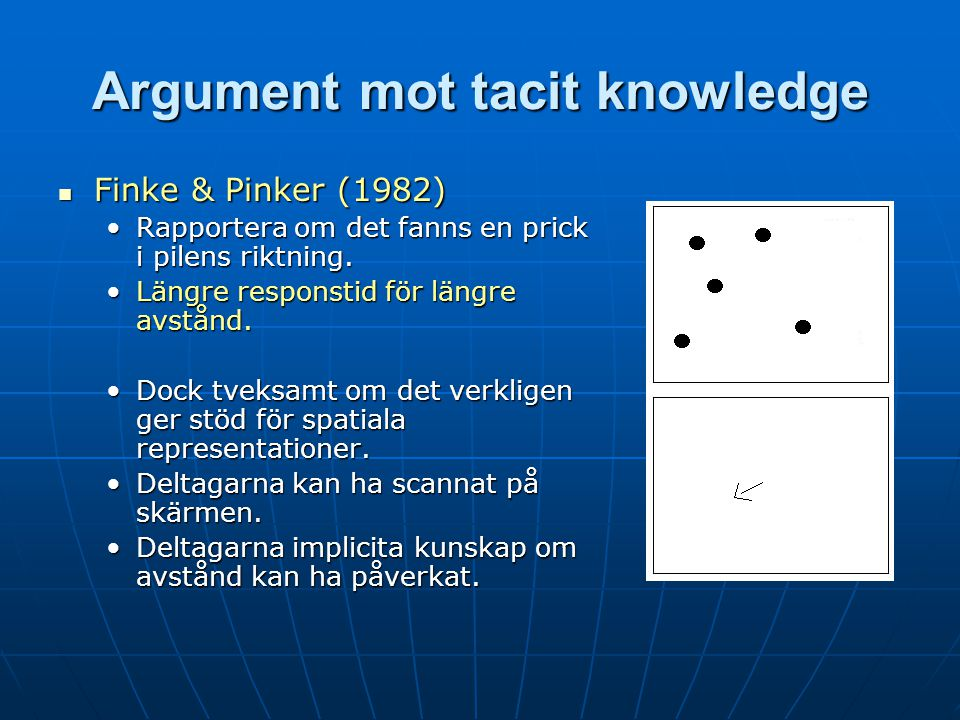 Argument mot tacit knowledge
