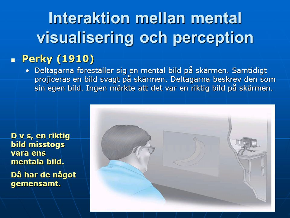 Interaktion mellan mental visualisering och perception