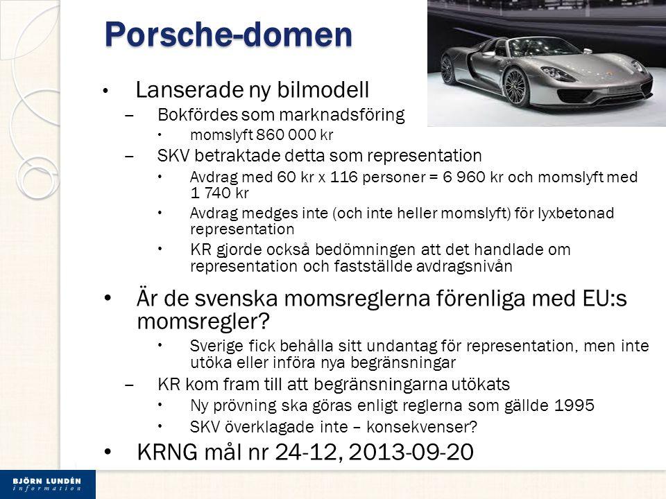Porsche-domen Lanserade ny bilmodell
