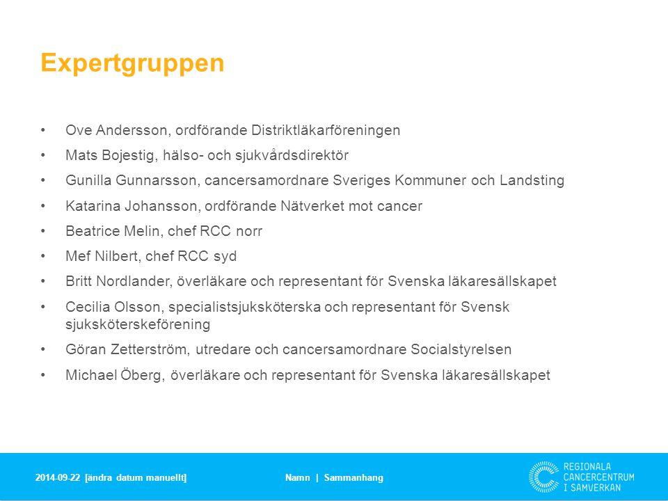 Expertgruppen Ove Andersson, ordförande Distriktläkarföreningen