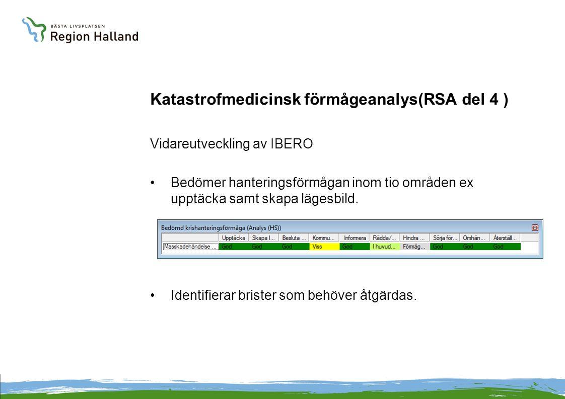 Katastrofmedicinsk förmågeanalys(RSA del 4 )
