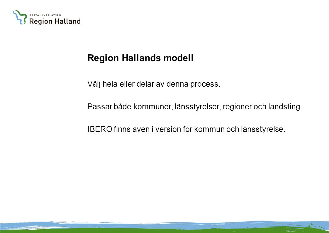 Region Hallands modell