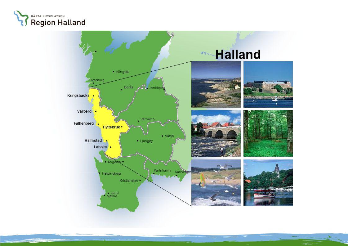 Halland Kungsbacka Varberg Falkenberg Hyltebruk Halmstad Laholm