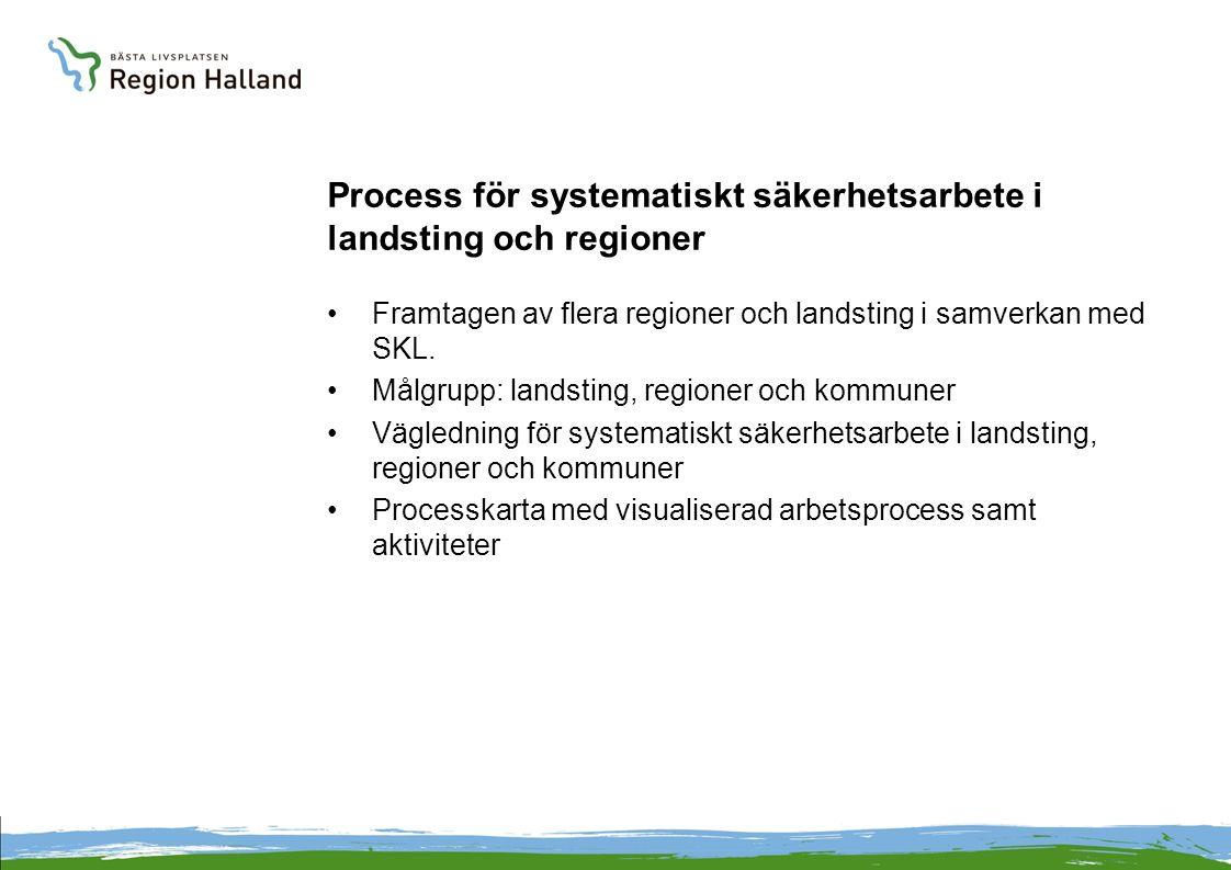Process för systematiskt säkerhetsarbete i landsting och regioner