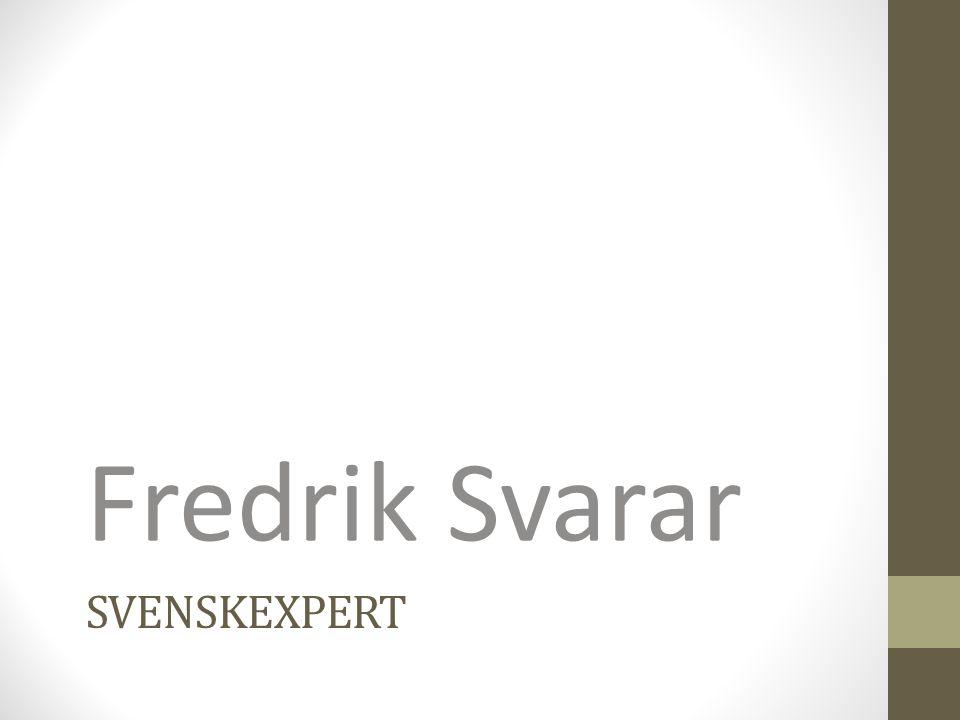Fredrik Svarar Svenskexpert