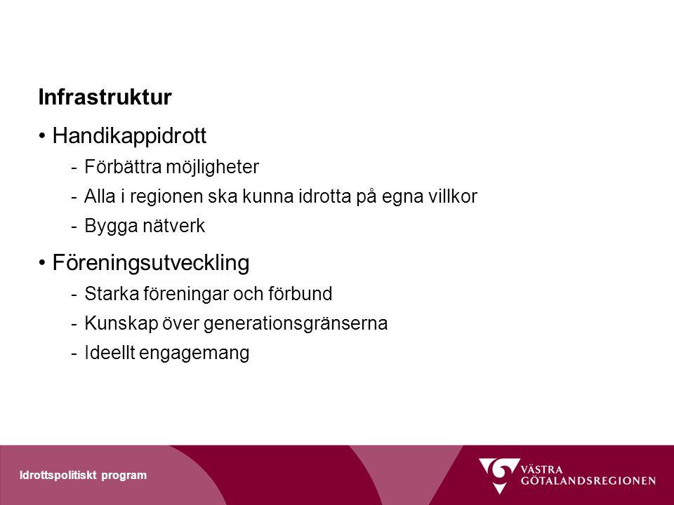 Infrastruktur Handikappidrott Föreningsutveckling