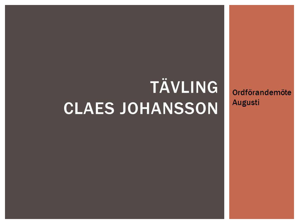 Tävling Claes johansson
