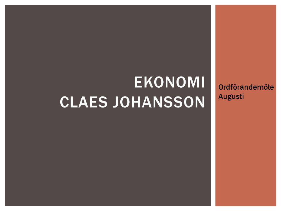 Ekonomi Claes johansson