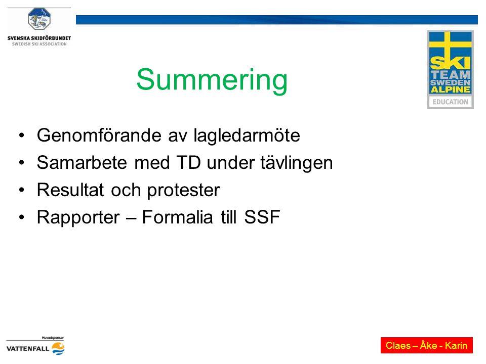 Summering Genomförande av lagledarmöte