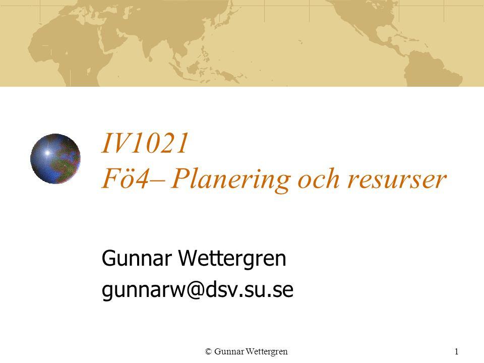 IV1021 Fö4– Planering och resurser