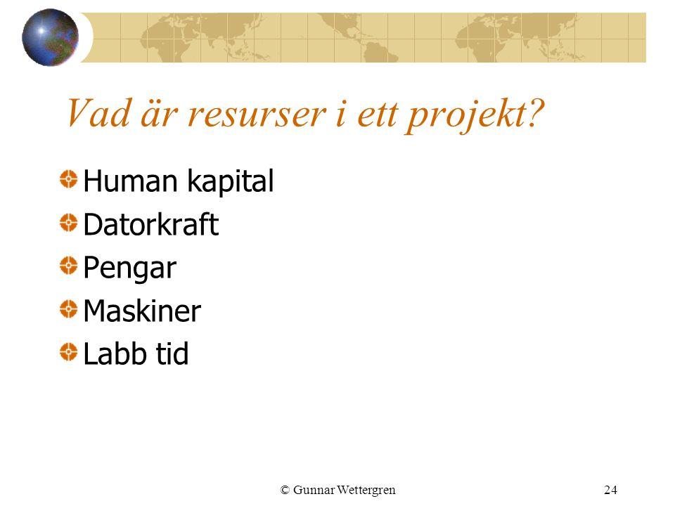 Vad är resurser i ett projekt