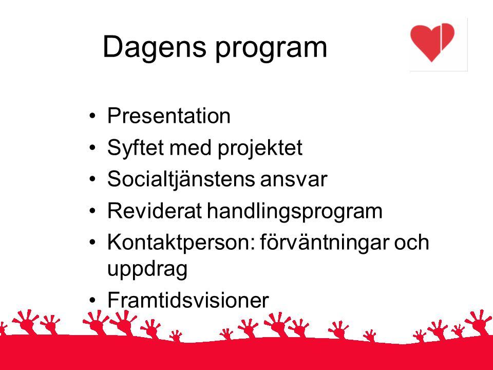Dagens program Presentation Syftet med projektet