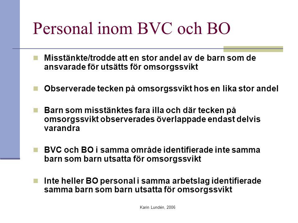 Personal inom BVC och BO