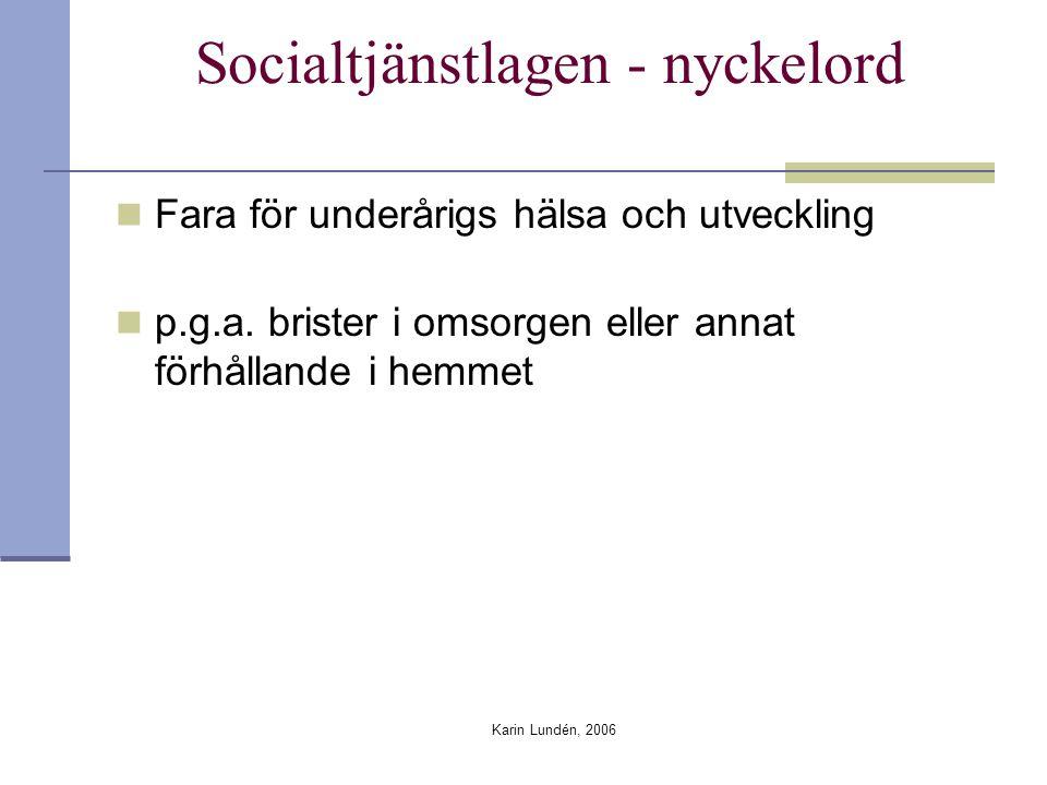 Socialtjänstlagen - nyckelord