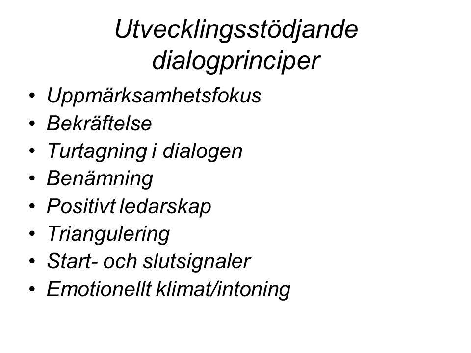 Utvecklingsstödjande dialogprinciper