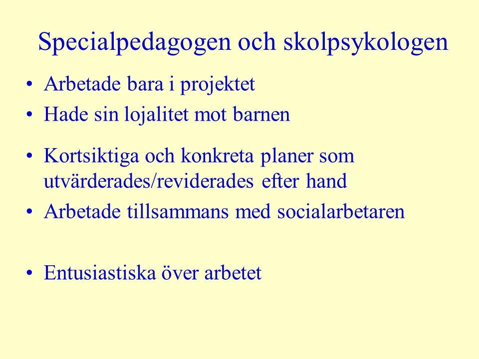 Specialpedagogen och skolpsykologen