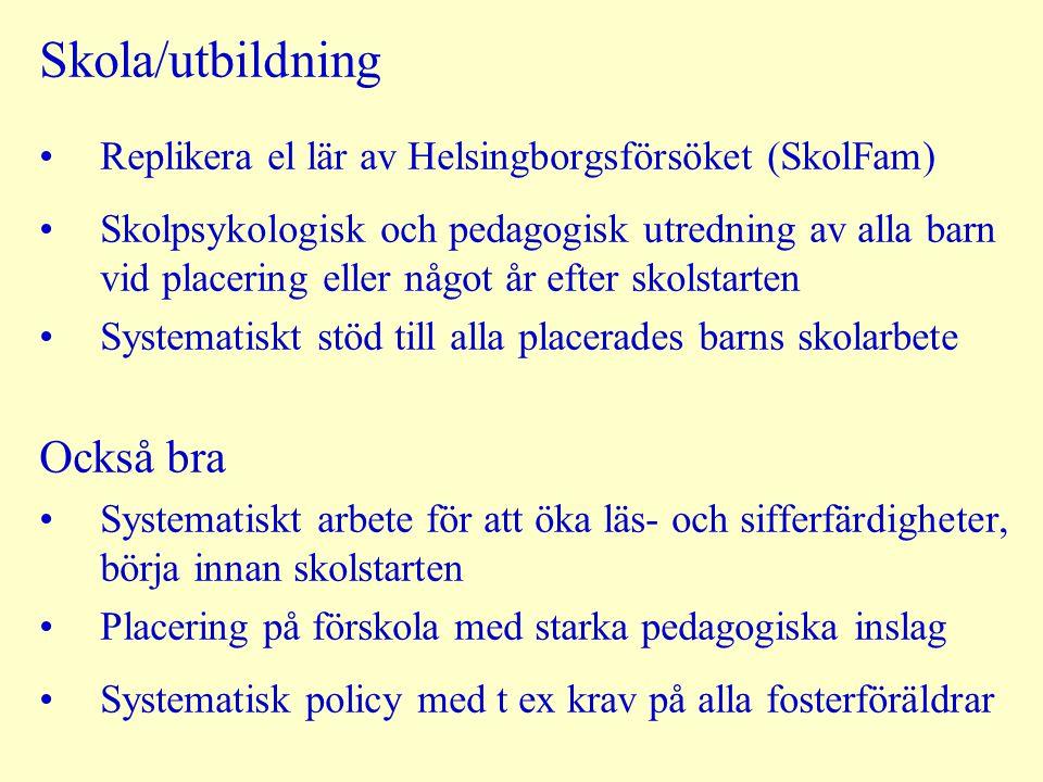 Skola/utbildning Också bra