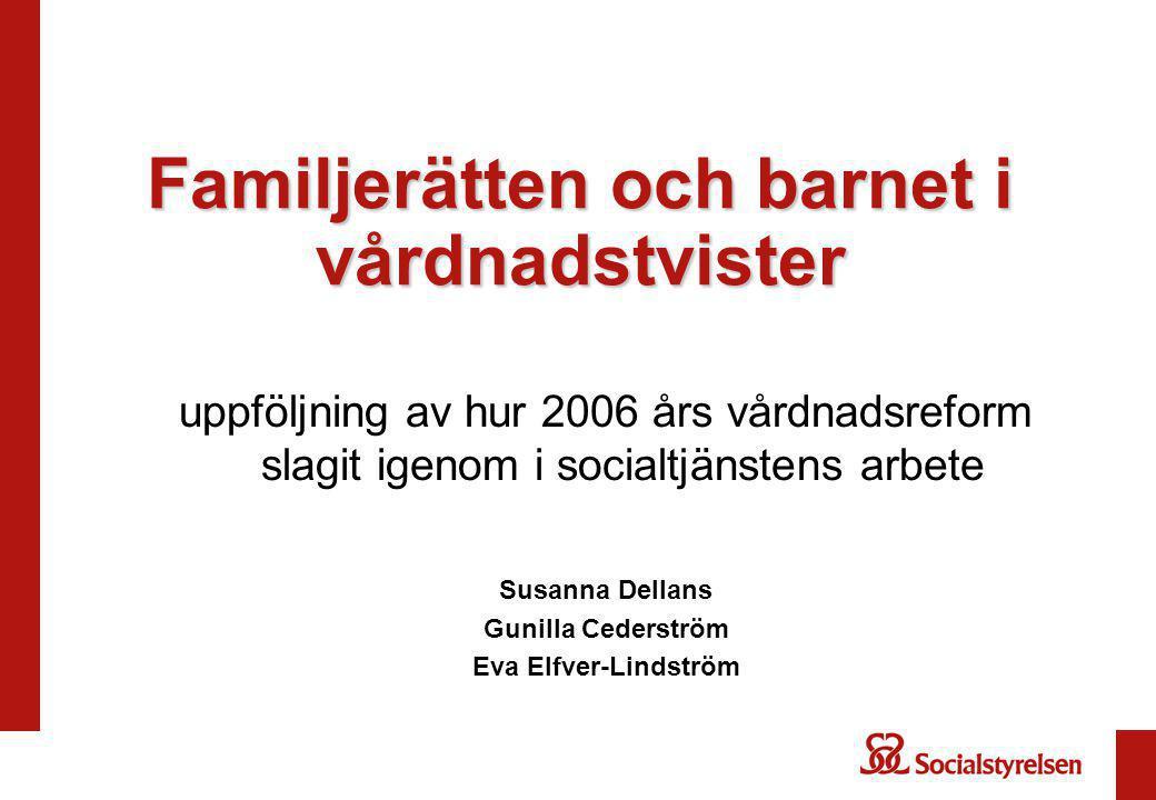 Familjerätten och barnet i vårdnadstvister