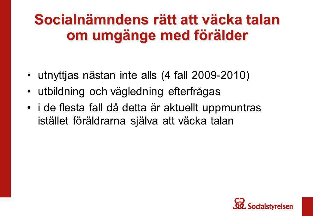 Socialnämndens rätt att väcka talan om umgänge med förälder