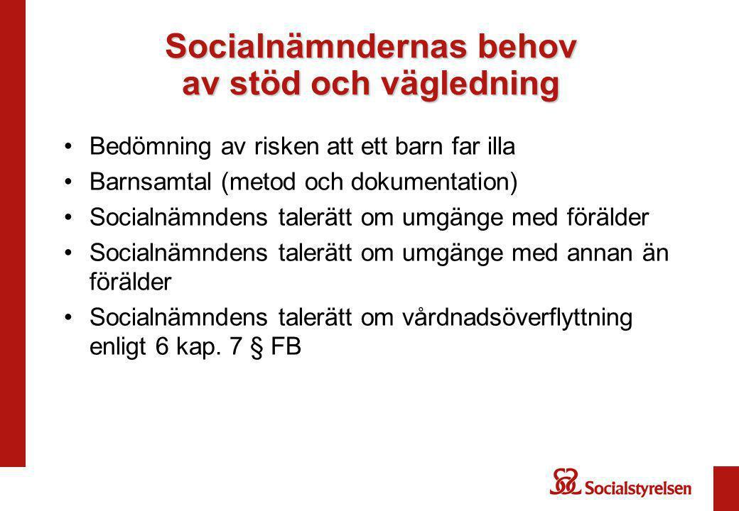 Socialnämndernas behov av stöd och vägledning