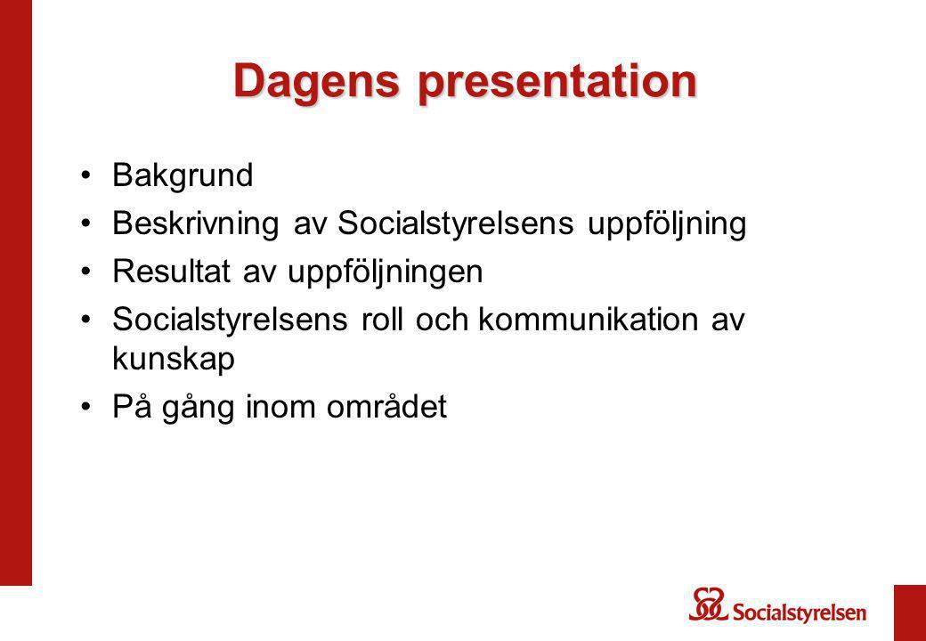 Dagens presentation Bakgrund