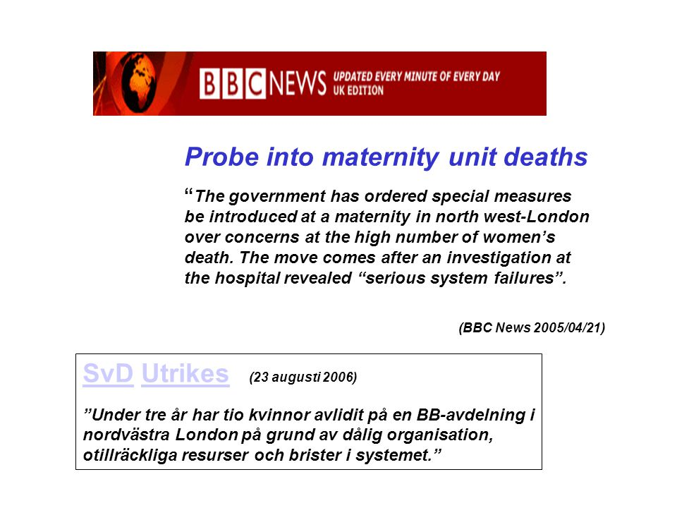 Probe into maternity unit deaths