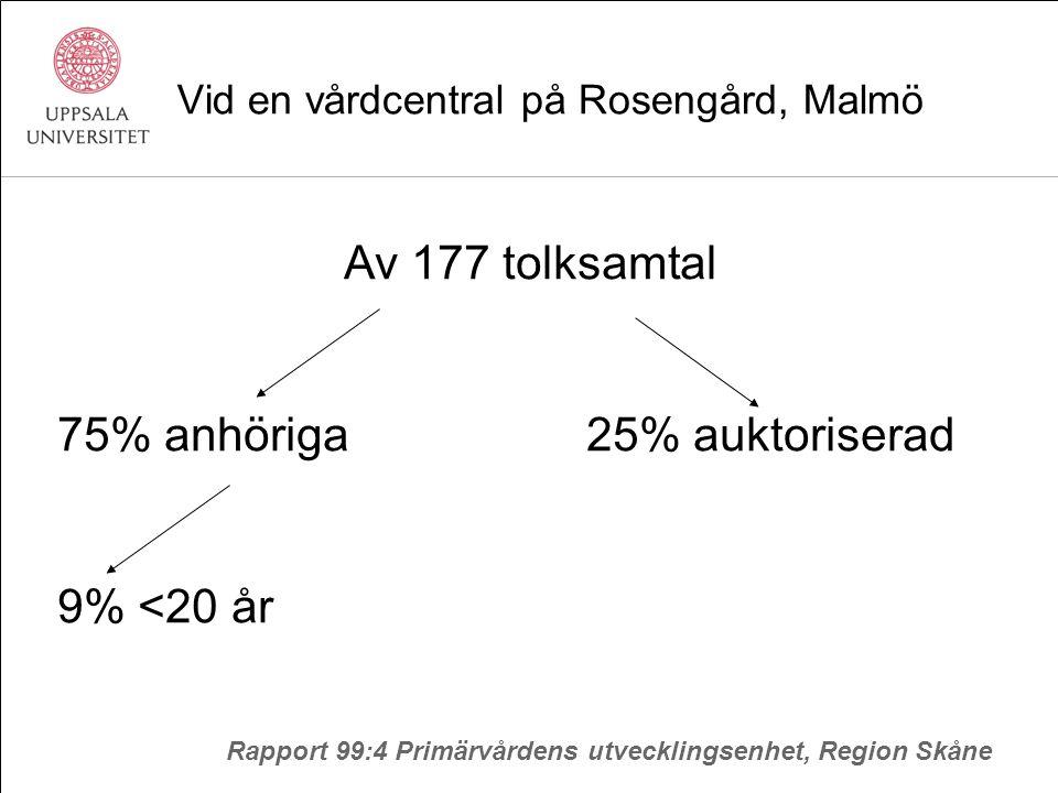 Vid en vårdcentral på Rosengård, Malmö