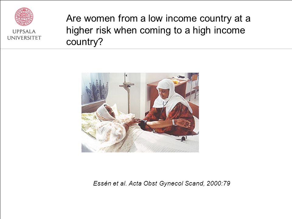 Are women from a low income country at a higher risk when coming to a high income country