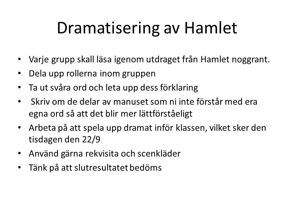 Dramatisering av Hamlet