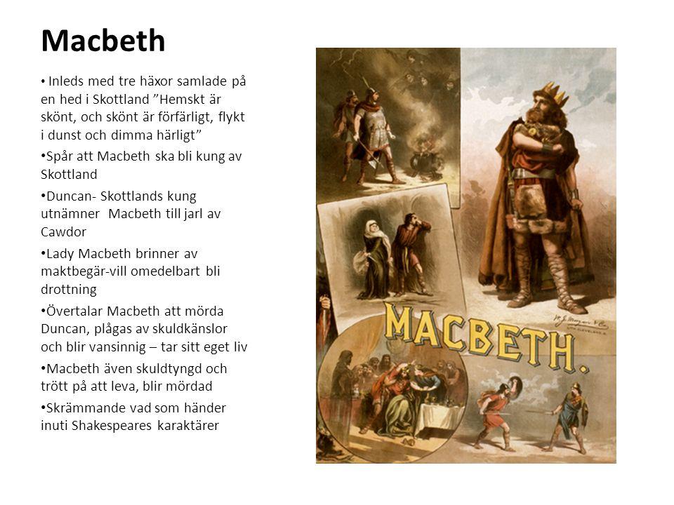 Macbeth Spår att Macbeth ska bli kung av Skottland