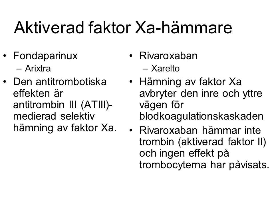 Aktiverad faktor Xa-hämmare