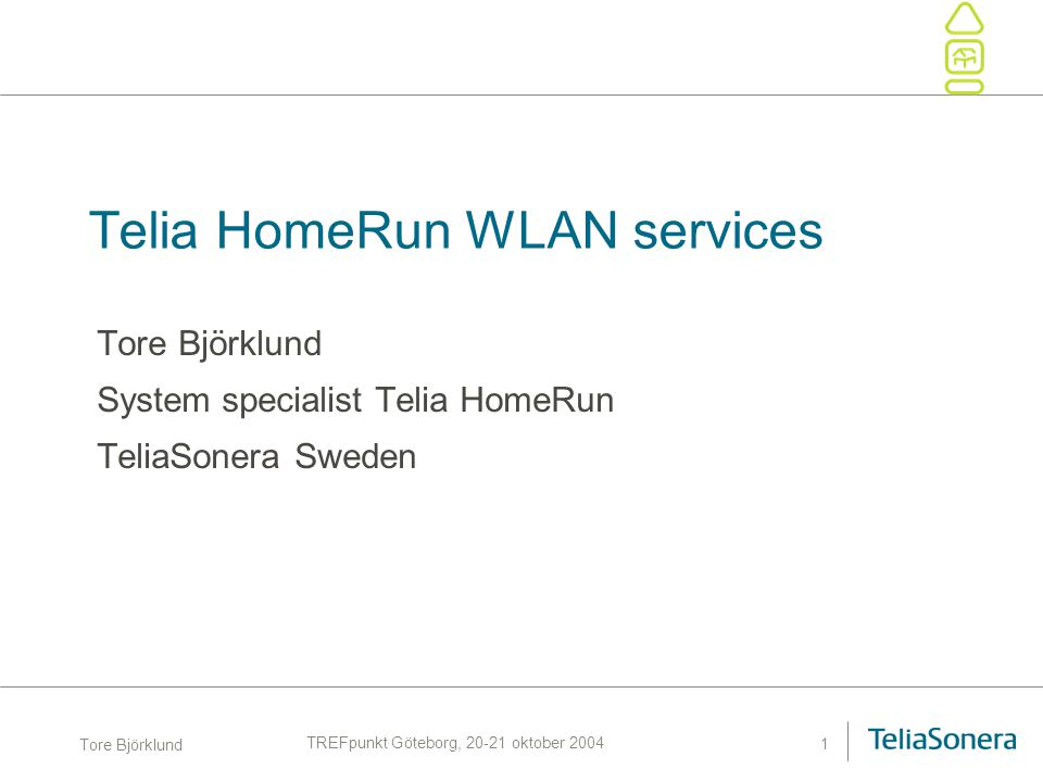 Telia HomeRun WLAN services