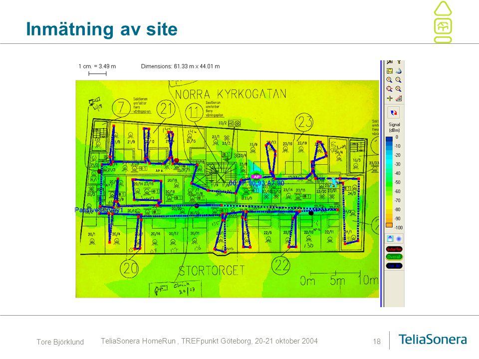 TeliaSonera HomeRun , TREFpunkt Göteborg, 20-21 oktober 2004