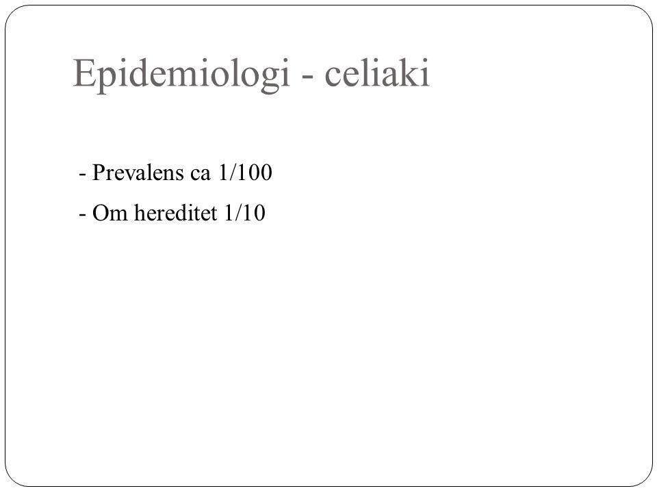 Epidemiologi - celiaki
